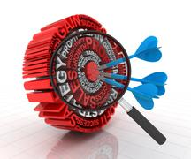 Stock Illustration of Analysing the business target