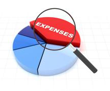 Anaylyse your expenses - stock illustration