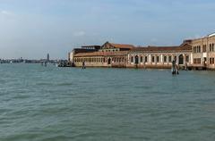 Murano island glass workshop - view from the lagoon Venice Stock Photos