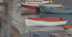 Boats in folkestone harbour Stock Footage