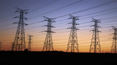 Electrical Transmission Lines Stock Footage