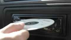 Man includes includes music on the radio. Stock Footage