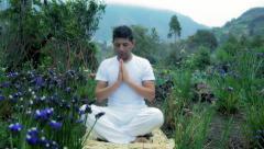 Yoga meditation Stock Footage