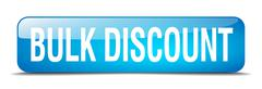 Bulk discount blue square 3d realistic isolated web button Stock Illustration