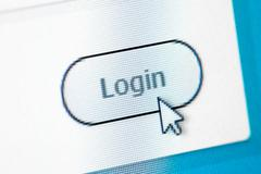 Website Login Screen Stock Photos