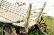 Stock Photo of Old wooden cart.Toned image.