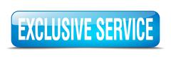 Stock Illustration of exclusive service blue square 3d realistic isolated web button