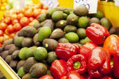 Fruits in a market Stock Photos