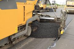 road construction equipment machines - stock photo