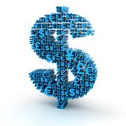 Dollar signs formed by major currency symbols Stock Illustration