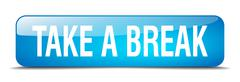 Stock Illustration of take a break blue square 3d realistic isolated web button