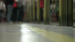 People Going Out Of  Train in Slowmotion - stock footage