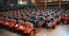 Moto-troops Electric motors Stock Footage