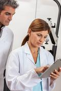 Ophthalmologists discussion Stock Photos