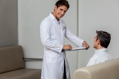 Ophthalmologist looking at camera Stock Photos