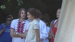 Ukrainian fashion show,  face Stock Footage