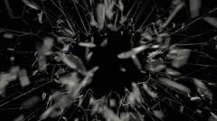 Breaking glass in full HD Arkistovideo