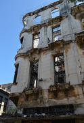 Havana, Cuba: dilapidated building - stock photo