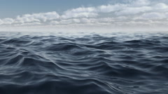 The waves of the blue sea animation in full hd - stock footage