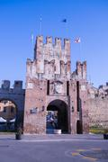 Ancient gateway to Soave, fortified city in the province of Verona. Stock Photos