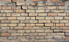Old cracked foundation Stock Photos