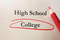 College red circle - stock photo