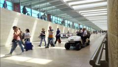 People go to boarding an aircraft. Ben Gurion International Airport. Stock Footage
