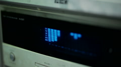 Sound level meter equalizer display Stock Footage