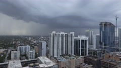 Storm over Brickell,Miami Stock Footage
