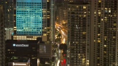 Brickell Avenue Traffic at Night Stock Footage