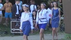 Ukrainian fashion show Stock Footage