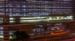 Knight Center Metromover station time lapse Stock Footage