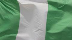 Flag of Nigeria Stock Footage