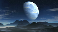 Blue gas giant Stock Footage