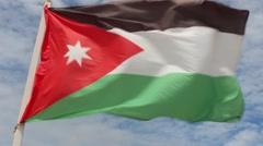 Flag of Jordan Stock Footage