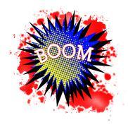 Comic Boom Stock Illustration