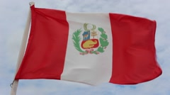 Flag of Peru Stock Footage