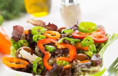 Mediterranean salad Stock Photos