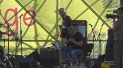 Ukraine, an international music festival Stock Footage