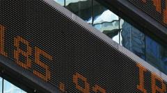 Stock market ticker close up Arkistovideo