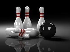 Bowling Concept Stock Illustration