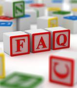Faq Block - stock illustration