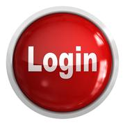 Login Button - stock illustration