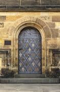 Stock Photo of Old church or castle door