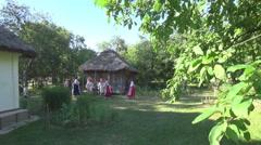 Ukrainian national clothes Stock Footage
