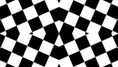 Design Checkered Black and White Stock Footage