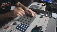 Drum machine hip hop Stock Footage