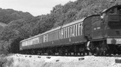 BW Dartmouth Steam Railway with Sound Stock Footage
