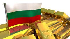 Bulgarian economy concept with gold bullion Stock Illustration