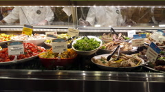Ready to Eat Prepared Food at Grocery Store 4K Stock Footage